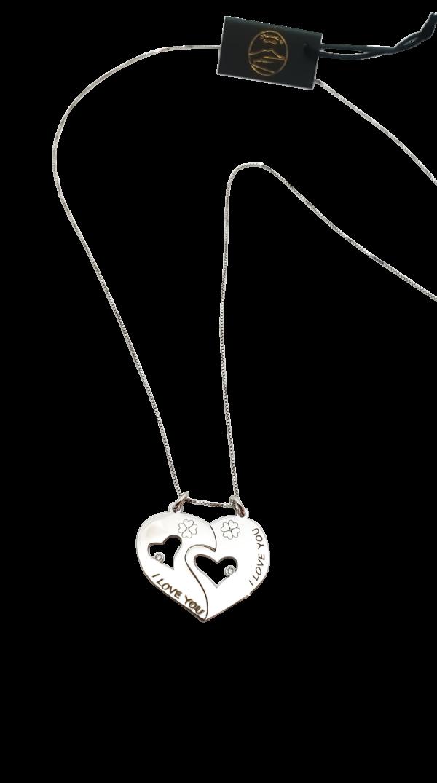 collana cuore spezzato argento